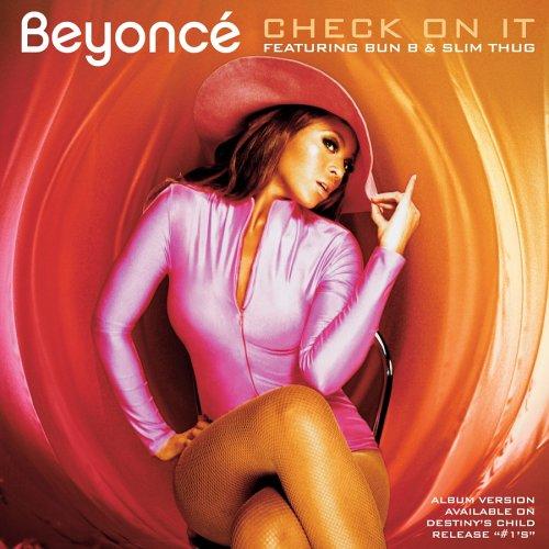 Beyoncé Check On It cover art