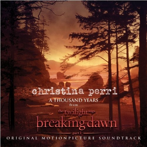 Christina Perri A Thousand Years l'art de couverture
