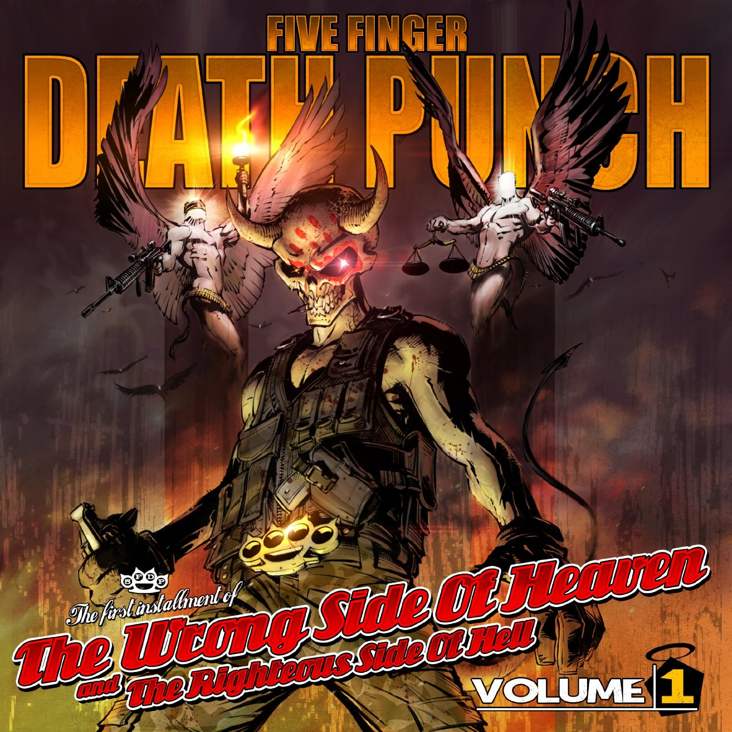 Five Finger Death Punch Burn MF cover art