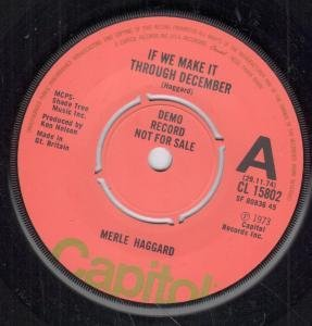 Merle Haggard If We Make It Through December cover art