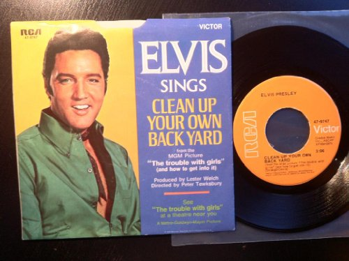 Elvis Presley Clean Up Your Own Backyard cover art