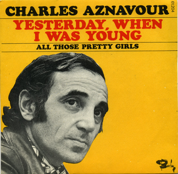 Charles Aznavour Yesterday When I Was Young cover art