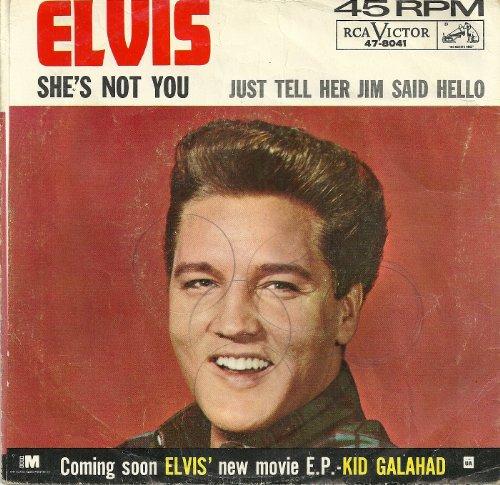 Elvis Presley She's Not You cover art