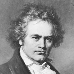 Ludwig van Beethoven Allegretto from Sonata Op. 14, No. 1 cover kunst