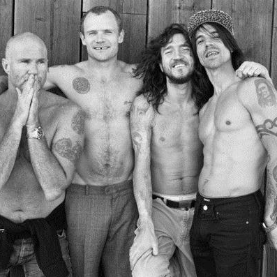 Red Hot Chili Peppers Naked In The Rain cover art