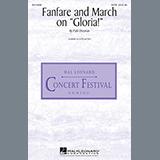 """Patti Drennan Fanfare And March On """"Gloria"""" arte de la cubierta"""