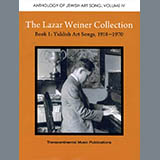 Yehudi Wyner The Lazar Weiner Collection - Book 1: Yiddish Art Songs, 1918-1970 arte de la cubierta