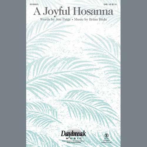 Brian Buda A Joyful Hosanna - Handbells cover art