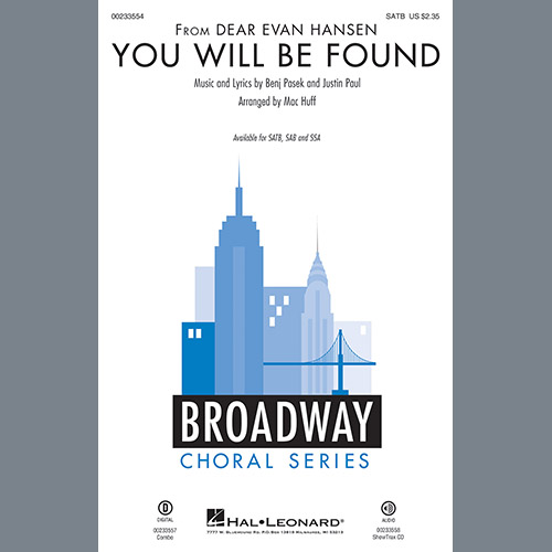 You Will Be Found From Dear Evan Hansen Arr Mac Huff Bb Trumpet 1 Sheet Music Pasek Paul Choir Instrumental Pak I made this lyric video for my favorite musical dear evan hansen! sheet music direct