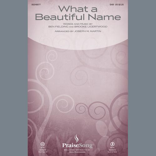 What a Beautiful Name (arr  Joseph M  Martin) - Flute by Hillsong Worship  Choir Instrumental Pak Digital Sheet Music