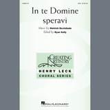 In Te Domine Speravi Bladmuziek