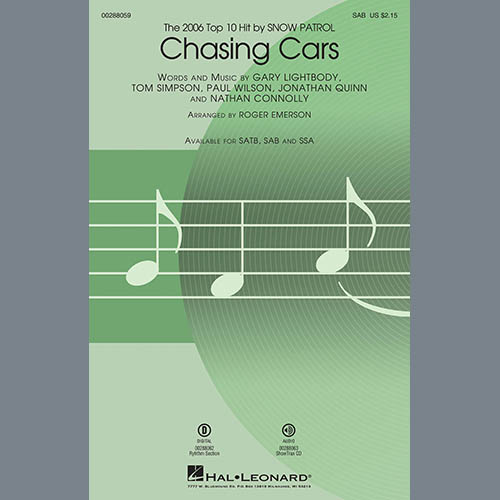 Chasing Cars (arr. Roger Emerson)