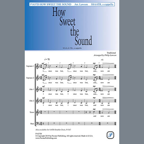 How Sweet the Sound (arr. Philip Lawson)