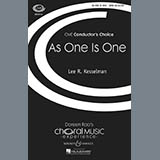 As One Is One