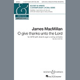 James MacMillan O Give Thanks Unto The Lord cover art