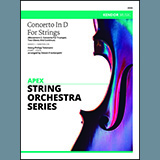 Concerto In D For Strings (Mov II Concerto For Trumpet, 2 Oboes & Continuo) Partitions