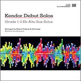 Strommen Kendor Debut Solos - Eb Alto Sax - Piano Accompaniment l'art de couverture