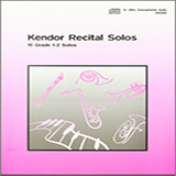 Various Kendor Recital Solos - Eb Alto Saxophone - Solo Book cover art