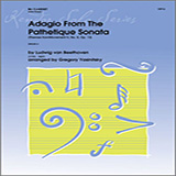 Adagio From The Pathetique Sonata (Themes From Movement II, No. 8, Op. 13) for Woodwind Solo - Bb Clarinet