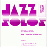 Jazz Solos For Alto Sax, Volume 2 Partitions