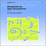 Arthur Frackenpohl Rhapsody For Solo Saxophone cover art