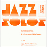 Niehaus Jazz Solos For Tenor Sax, Volume 2 l'art de couverture