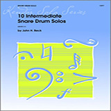10 Intermediate Snare Drum Solos Partituras