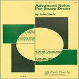 John H. Beck Advanced Solos For Snare Drum arte de la cubierta