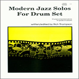 Rich Thompson Modern Jazz Solos For Drum Set cover art