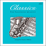 Frank J. Halferty Classics For Saxophone Quartet - Full Score cover art