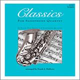 Frank J. Halferty Classics For Saxophone Quartet - 1st Eb Alto Saxophone cover art