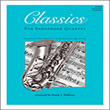 Frank J. Halferty Classics For Saxophone Quartet - 2nd Eb Alto Saxophone cover art