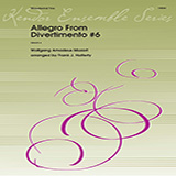Allegro From Divertimento #6 (arr. Frank Halferty) - Woodwind Ensemble Bladmuziek