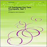 12 Fanfares For Two Trumpets, Set 1 Noter