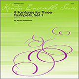 8 Fanfares For Three Trumpets, Set 1 - Brass Ensemble Partitions