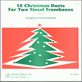 Pederson 10 Christmas Duets For Two Tinsel Trombones cover art