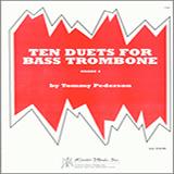 Tommy Pederson Ten Duets For Bass Trombone cover art