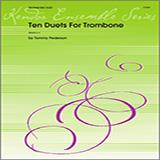 Pederson Ten Duets For Trombone cover art