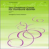 Pederson Ten Christmas Carols For Trombone Quintet - 1st Trombone cover art