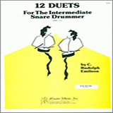 12 Duets For The Intermediate Snare Drummer Partituras