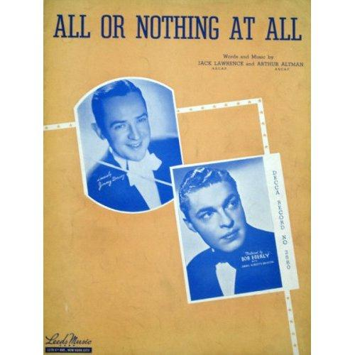Frank Sinatra All Or Nothing At All cover art