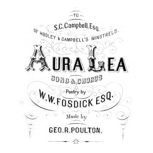 George R. Poulton Aura Lee cover art