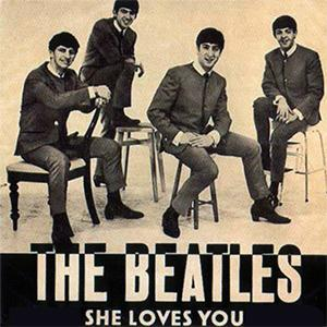 The Beatles She Loves You cover art