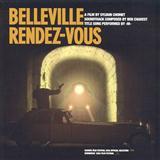 Partition piano Belleville Rendez-Vous (from 'Belleville Rendez-vous') de Benoit-Philippe Charest - Piano Voix Guitare (Mélodie Main Droite)