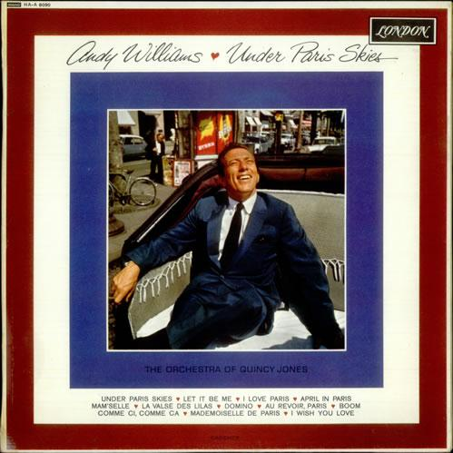 Andy Williams Under Paris Skies (Sous Le Ciel De Paris) cover art
