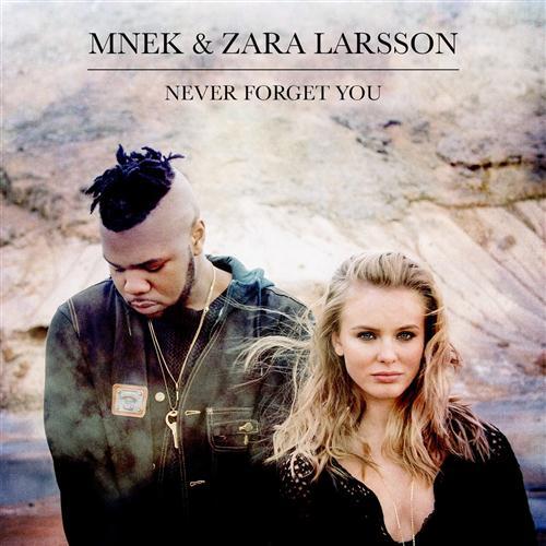 MNEK & Zara Larsson Never Forget You cover art