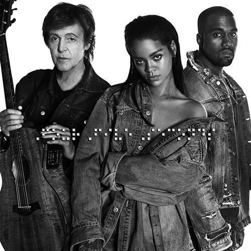Rihanna FourFiveSeconds (feat. Kanye West and Paul McCartney) cover art