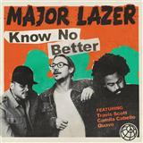Major Lazer Know No Better (featuring Camila Cabello) cover art