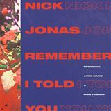 Nick Jonas Remember I Told You (featuring Anne-Marie) arte de la cubierta