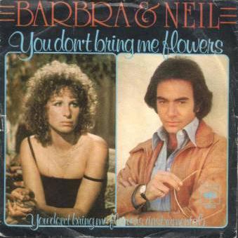 Neil Diamond & Barbra Streisand You Don't Bring Me Flowers cover art